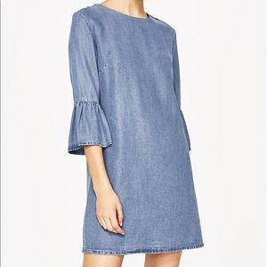 💙NWT💙 Zara Premium Chambray Dress